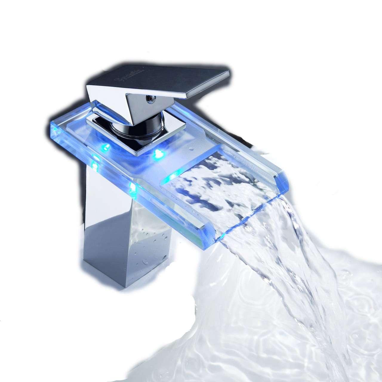 Griferia Para Baño En Mercado Libre:grifo de cascada estilo contemporáneo acabado en cromo válvula de