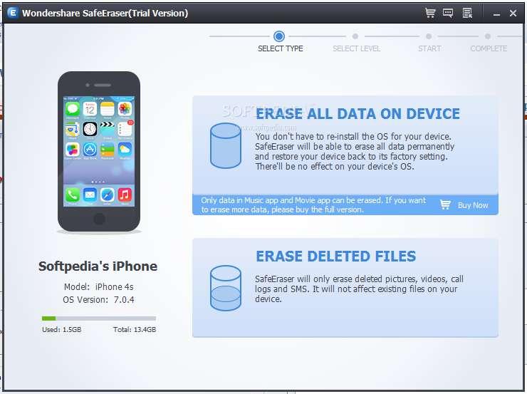 Wondershare SafeEraser 4.8.1.0